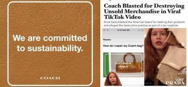 """Coach's mea culpa: """"We won't be destroying unsold items anymore"""""""