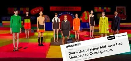 """Jing Daily boccia Dior: """"Gaffe e brutte copie di Prada"""""""